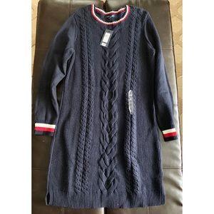 NWT Tommy Hilfiger Knit Sweater Dress Navy